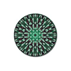 Abstract Green Patterned Wallpaper Background Magnet 3  (round) by Nexatart