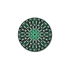 Abstract Green Patterned Wallpaper Background Golf Ball Marker (10 Pack) by Nexatart