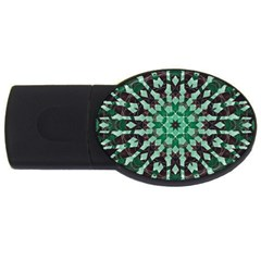 Abstract Green Patterned Wallpaper Background Usb Flash Drive Oval (4 Gb) by Nexatart