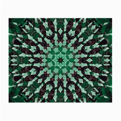 Abstract Green Patterned Wallpaper Background Small Glasses Cloth (2 Side) by Nexatart