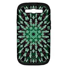 Abstract Green Patterned Wallpaper Background Samsung Galaxy S Iii Hardshell Case (pc+silicone) by Nexatart