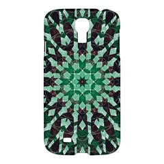 Abstract Green Patterned Wallpaper Background Samsung Galaxy S4 I9500/i9505 Hardshell Case by Nexatart