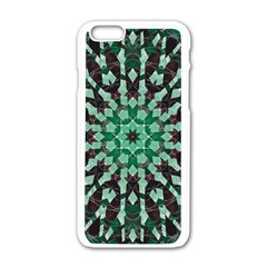 Abstract Green Patterned Wallpaper Background Apple Iphone 6/6s White Enamel Case by Nexatart