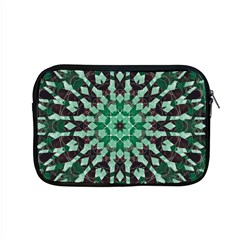 Abstract Green Patterned Wallpaper Background Apple Macbook Pro 15  Zipper Case by Nexatart
