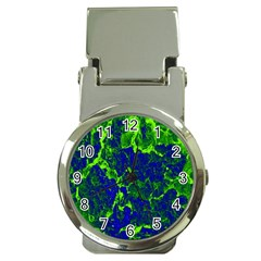Abstract Green And Blue Background Money Clip Watches by Nexatart