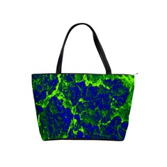 Abstract Green And Blue Background Shoulder Handbags by Nexatart