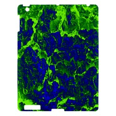 Abstract Green And Blue Background Apple Ipad 3/4 Hardshell Case by Nexatart