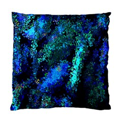 Underwater Abstract Seamless Pattern Of Blues And Elongated Shapes Standard Cushion Case (one Side) by Nexatart