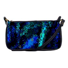 Underwater Abstract Seamless Pattern Of Blues And Elongated Shapes Shoulder Clutch Bags by Nexatart