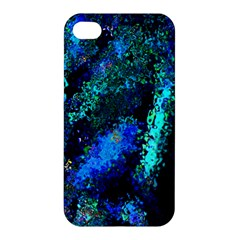 Underwater Abstract Seamless Pattern Of Blues And Elongated Shapes Apple Iphone 4/4s Hardshell Case by Nexatart