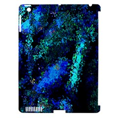 Underwater Abstract Seamless Pattern Of Blues And Elongated Shapes Apple Ipad 3/4 Hardshell Case (compatible With Smart Cover) by Nexatart