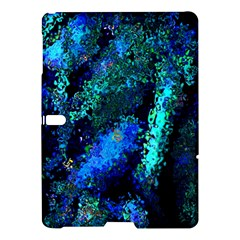 Underwater Abstract Seamless Pattern Of Blues And Elongated Shapes Samsung Galaxy Tab S (10 5 ) Hardshell Case  by Nexatart