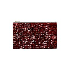 Red Box Background Pattern Cosmetic Bag (small)  by Nexatart