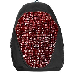 Red Box Background Pattern Backpack Bag by Nexatart