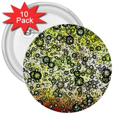 Chaos Background Other Abstract And Chaotic Patterns 3  Buttons (10 Pack)  by Nexatart