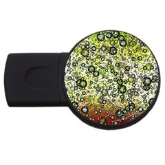 Chaos Background Other Abstract And Chaotic Patterns Usb Flash Drive Round (2 Gb) by Nexatart