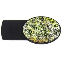 Chaos Background Other Abstract And Chaotic Patterns Usb Flash Drive Oval (4 Gb) by Nexatart