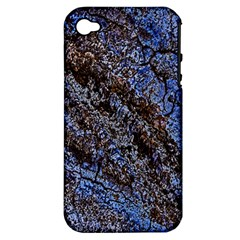 Cracked Mud And Sand Abstract Apple Iphone 4/4s Hardshell Case (pc+silicone) by Nexatart