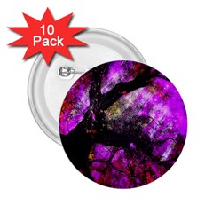 Pink Abstract Tree 2 25  Buttons (10 Pack)  by Nexatart