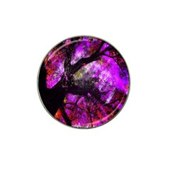 Pink Abstract Tree Hat Clip Ball Marker (4 Pack) by Nexatart