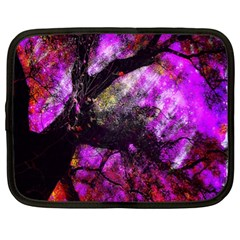 Pink Abstract Tree Netbook Case (XL)