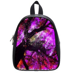 Pink Abstract Tree School Bags (small)  by Nexatart