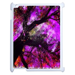 Pink Abstract Tree Apple Ipad 2 Case (white) by Nexatart