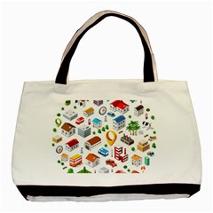 Urban Pattern  Basic Tote Bag by Alexprintshop