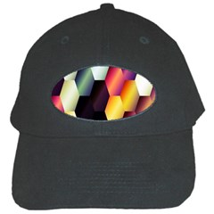 Colorful Hexagon Pattern Black Cap by Nexatart