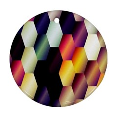 Colorful Hexagon Pattern Ornament (round) by Nexatart