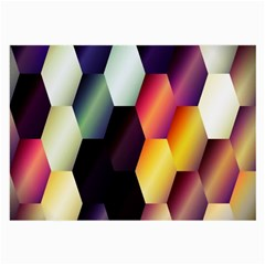 Colorful Hexagon Pattern Large Glasses Cloth by Nexatart