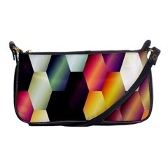 Colorful Hexagon Pattern Shoulder Clutch Bags by Nexatart