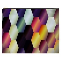 Colorful Hexagon Pattern Cosmetic Bag (xxxl)  by Nexatart