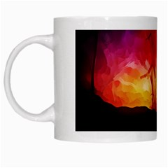 Fall Forest Background White Mugs by Nexatart