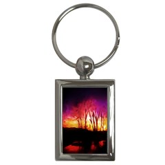 Fall Forest Background Key Chains (rectangle)  by Nexatart