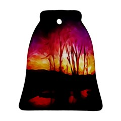 Fall Forest Background Ornament (bell) by Nexatart