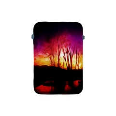 Fall Forest Background Apple Ipad Mini Protective Soft Cases by Nexatart