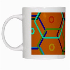 Color Bee Hive Color Bee Hive Pattern White Mugs by Nexatart