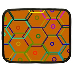 Color Bee Hive Color Bee Hive Pattern Netbook Case (large) by Nexatart