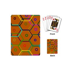 Color Bee Hive Color Bee Hive Pattern Playing Cards (mini)  by Nexatart