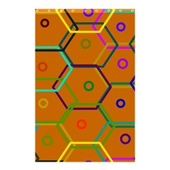 Color Bee Hive Color Bee Hive Pattern Shower Curtain 48  X 72  (small)  by Nexatart