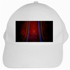 Bright Background With Stars And Air Curtains White Cap by Nexatart