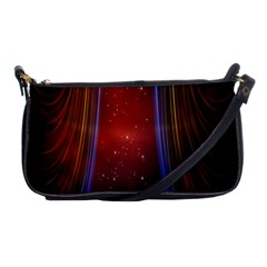 Bright Background With Stars And Air Curtains Shoulder Clutch Bags by Nexatart