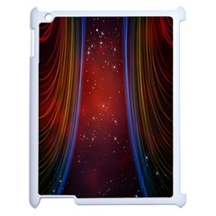 Bright Background With Stars And Air Curtains Apple Ipad 2 Case (white) by Nexatart