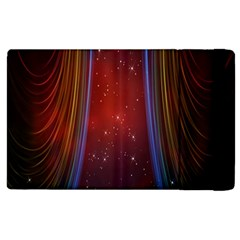 Bright Background With Stars And Air Curtains Apple Ipad 2 Flip Case by Nexatart