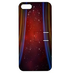 Bright Background With Stars And Air Curtains Apple Iphone 5 Hardshell Case With Stand by Nexatart
