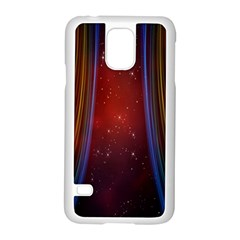 Bright Background With Stars And Air Curtains Samsung Galaxy S5 Case (white) by Nexatart