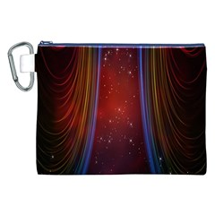 Bright Background With Stars And Air Curtains Canvas Cosmetic Bag (xxl) by Nexatart