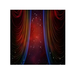Bright Background With Stars And Air Curtains Small Satin Scarf (square) by Nexatart