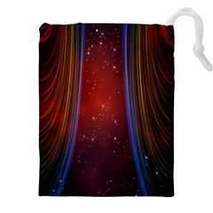 Bright Background With Stars And Air Curtains Drawstring Pouches (xxl) by Nexatart